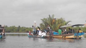 susur hutan nipah dan drone desa Blogger Banyumas di Festival Nipah