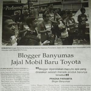 blogger banyumas dolan bareng toyota