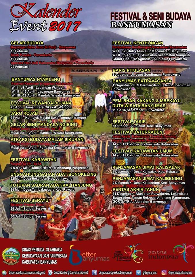 kalender event banyumas 2017