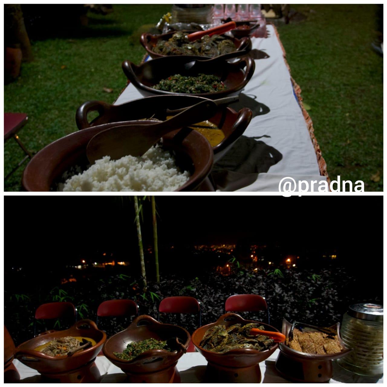 blogger makan prasmanan palawi baturraden