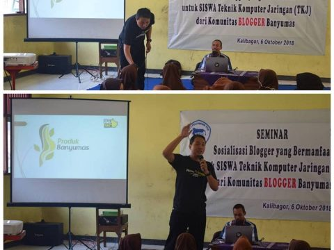 komunitas blogger banyumas di smk politeknik kalibagor