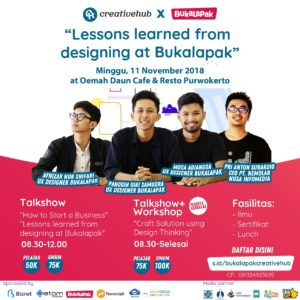 blogger banyumas du Digital Design Workshop bersama Bukalapak