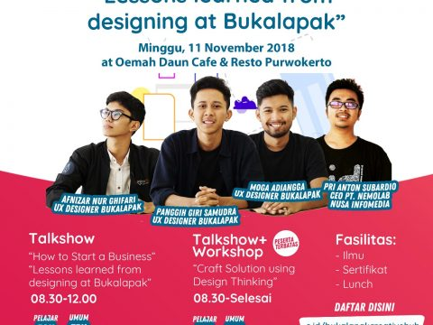 blogger banyumas du Digital Design Workshop bersama Bukalapak