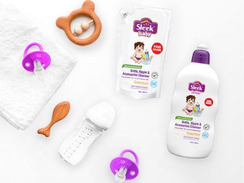 sleek baby sabun botol bayi